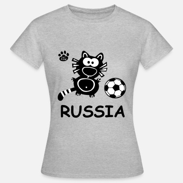Catpaw Design Kater Katze Russland Party Russia - Vrouwen T-shirt