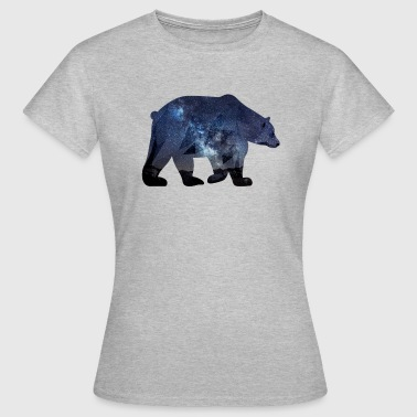 bear ours etoile nuit galaxie - T-shirt Femme