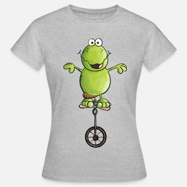 Froggy The funny frog drives unicycle - Bike - Gift - Women's T-Shirt