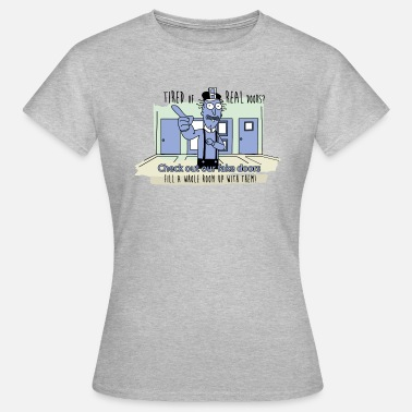 Funny Rick and Morty - Fake Doors Room - Women's T-Shirt