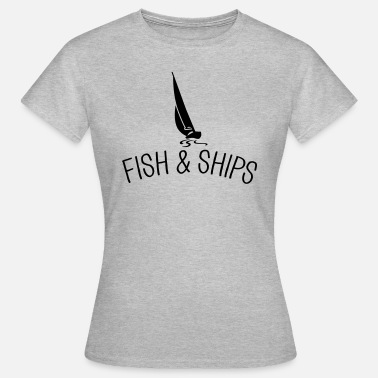 Kapitän Lustig Fish and Ships Segelboot - Frauen T-Shirt