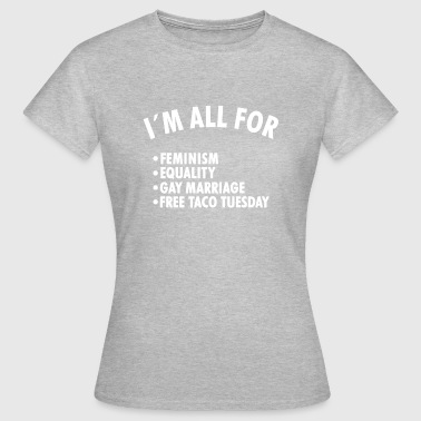 Marriage Equality Homosexual marriage, feminism, equal rights - Women's T-Shirt