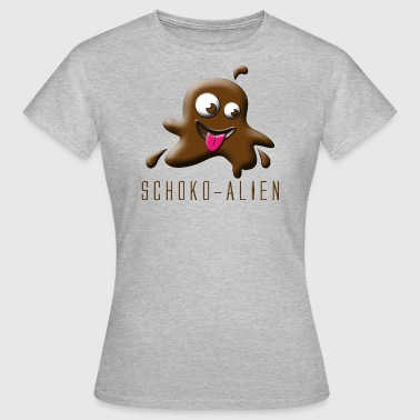 Schoko-Alien - Frauen T-Shirt