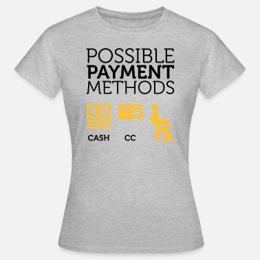 Checkout Barre de carte de crédit paiement possible types ou Fellation - T-shirt Femme