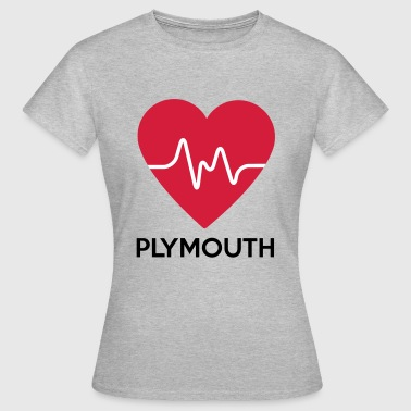 heart Plymouth - Women's T-Shirt