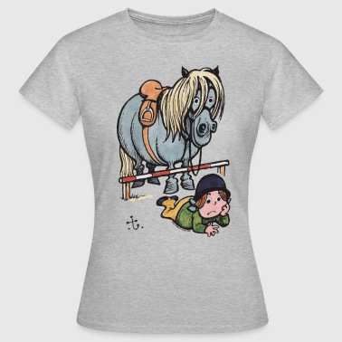 Thelwell Thelwell Funny Showjumping Gone Wrong - Women's T-Shirt