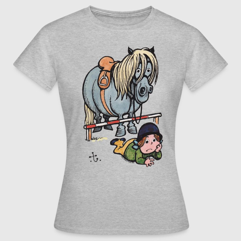 Thelwell Funny Showjumping Gone Wrong - Women's T-Shirt