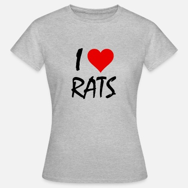 Rat Citation i Love Rats - T-shirt Femme