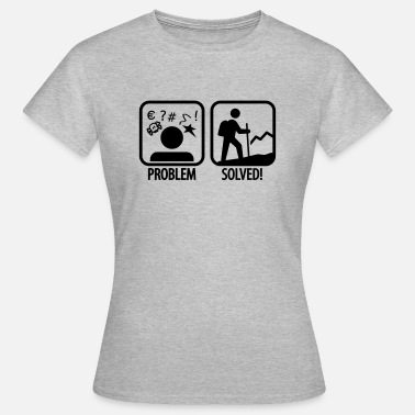 Hiking hiking: problem solved - Frauen T-Shirt