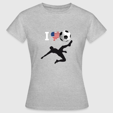 Coup De Pied Retourné i Love but de vélo de soccer kick football magistral - T-shirt Femme