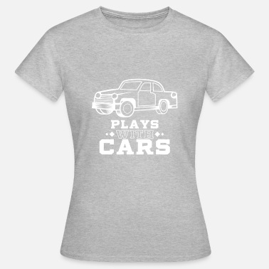 Match Play Plays with cars - Dad & Son Funny Matching - Women's T-Shirt