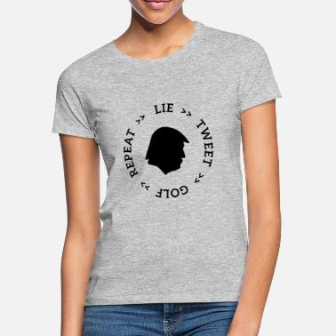 Idiocracy trump lie tweet - Frauen T-Shirt