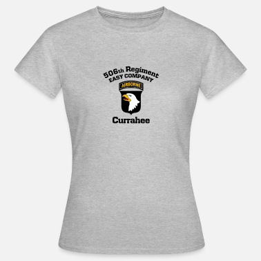 Easy Company 101st Airborne Currahee - Dame-T-shirt