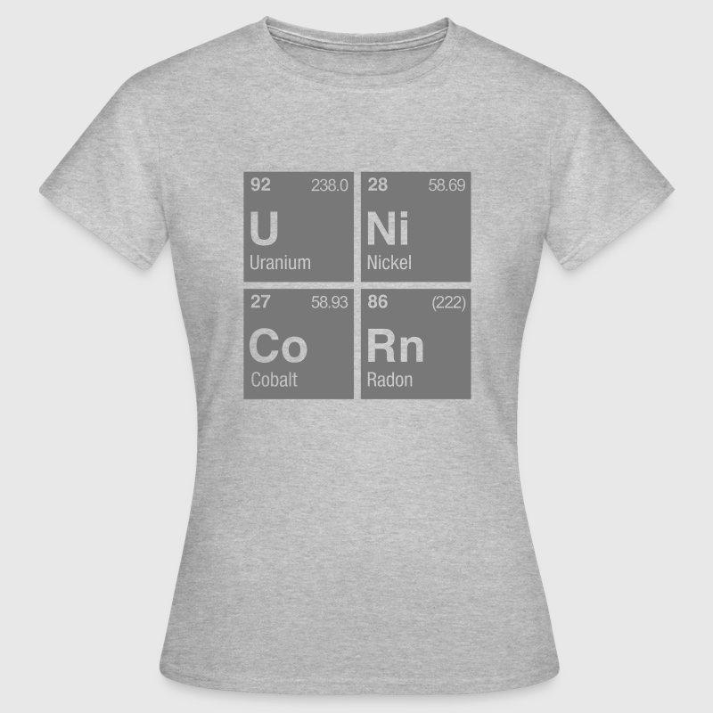 Unicorn periodic table of elements t shirt spreadshirt unicorn periodic table of elements womens t shirt urtaz Choice Image