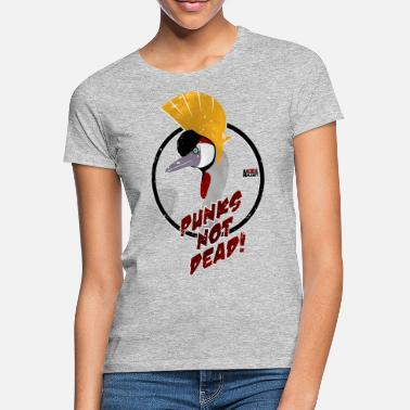 Discovery Channel Animal Planet Birds Crane Punks Not Dead - Women's T-Shirt