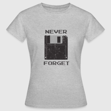 Nerd Computer Gamer Diskette Internet PC Gave - Dame-T-shirt