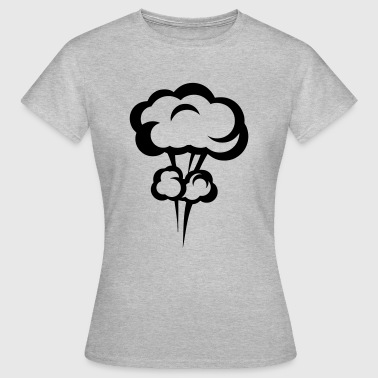 Explosion mushroom nuclear drawing 33 - Women's T-Shirt