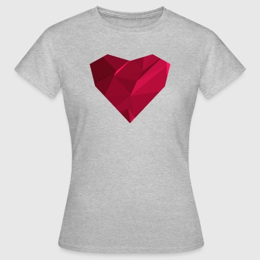 Polygon Heart (Low Poly) - Frauen T-Shirt