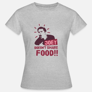 Joey Joey-doesnt-share-food-rood - Vrouwen T-shirt