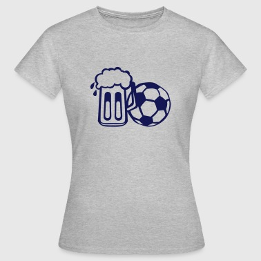 biere football ballon ensemble verre  - T-shirt Femme