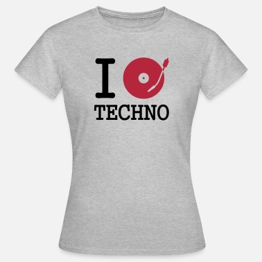 Musique Vynil i dj / play / listen to techno - T-shirt Femme