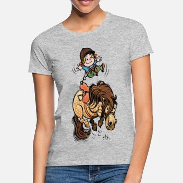 Thelwell Funny Illustration Bucking Horse - Women's T-Shirt