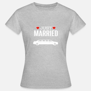 Limousin Just married white limousine - Women's T-Shirt