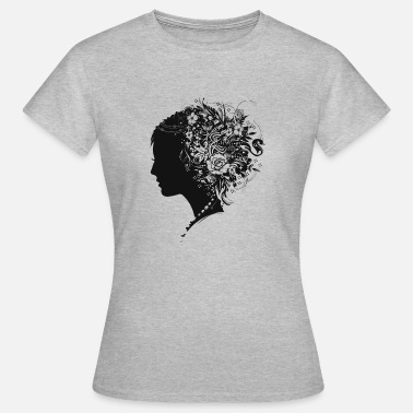Hairstyle Portrait papercut - Women's T-Shirt