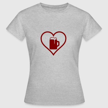 Beer Stein Heart beer stein - Women's T-Shirt
