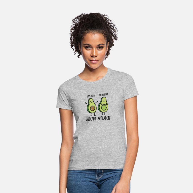 Funny T-Shirts - Avocado - Avocadon't - Women's T-Shirt heather grey