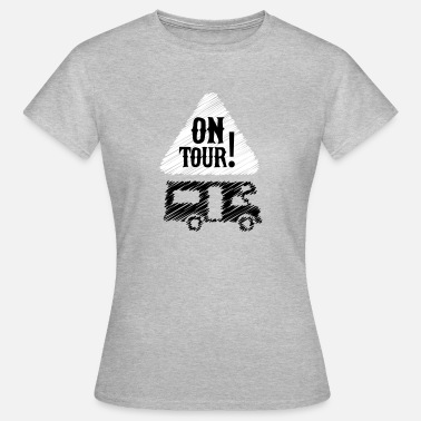 Camper Camping - on tour! - Vrouwen T-shirt