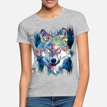 Husky Polygon - wolf - Women's T-Shirt