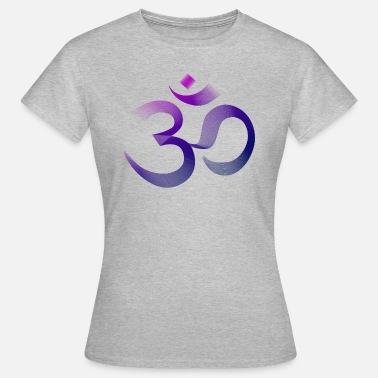 Signe Shirt T Bleu Premium OhmOm Yoga Namaste Femme Chiné 0vN8nwOym
