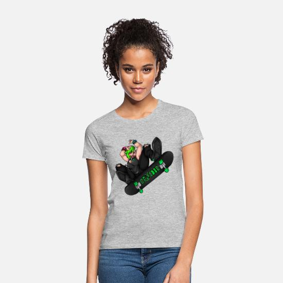 Longboard T-Shirts - Sk8 - Women's T-Shirt heather grey