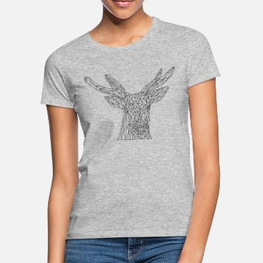 Hipster Cerf #LowPoly - T-shirt Femme
