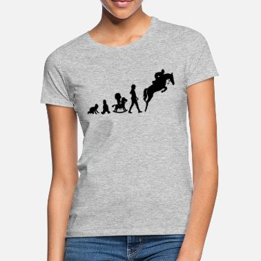 Springreiten Evolution Springreiter - Frauen T-Shirt