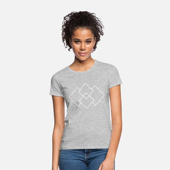 Modern T-Shirts - Squares white - Women's T-Shirt heather grey