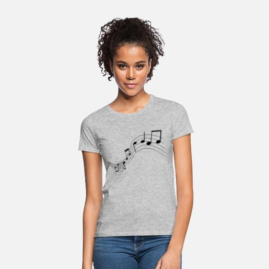Music T-Shirts - Music notes, music, notes - Women's T-Shirt heather grey