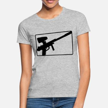 Sportauto button logo weapon aim paintball fun sport ver - Women's T-Shirt