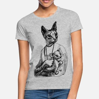 Fashion Majesty with kitty - Frauen T-Shirt