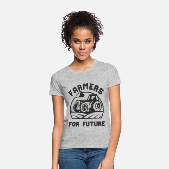 Cow T-Shirts - FARMERS FOR FUTURE. Tractor. Farmer. - Women's T-Shirt heather grey