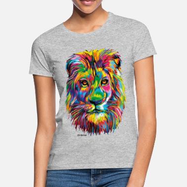 PD Moreno Colorful Lion - Women's T-Shirt