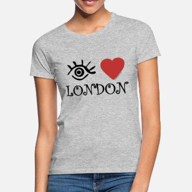 I Love London Eye-Love London - T-shirt dam