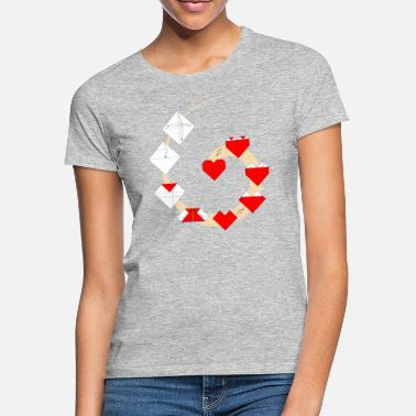 Fold Folding origami heart - How to fold a heart - Women's T-Shirt