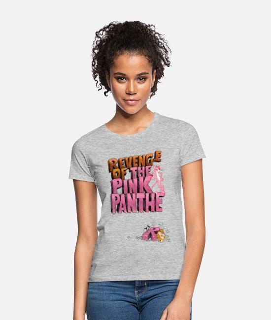 Pink T-Shirts - Pink Panther Revenge Of The Pink Panther - Women's T-Shirt heather grey
