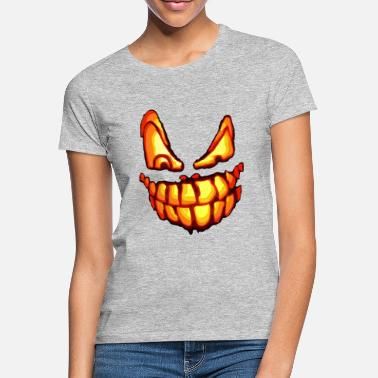 Scary halloween pumpkin face - Women's T-Shirt
