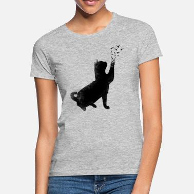 Black And White Collection black cat - Naisten t-paita