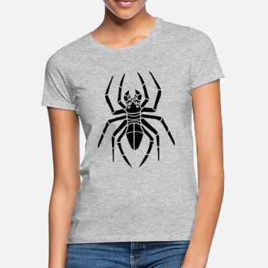 Hjertet Spider Web T Shirt Halloween Mens runde halsen