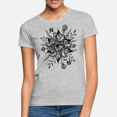 Companion psychedelic goa hippie shirt all seeing eye - Women's T-Shirt
