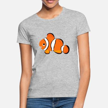Poisson Clown T-shirt Orange Poisson Clown - T-shirt Femme